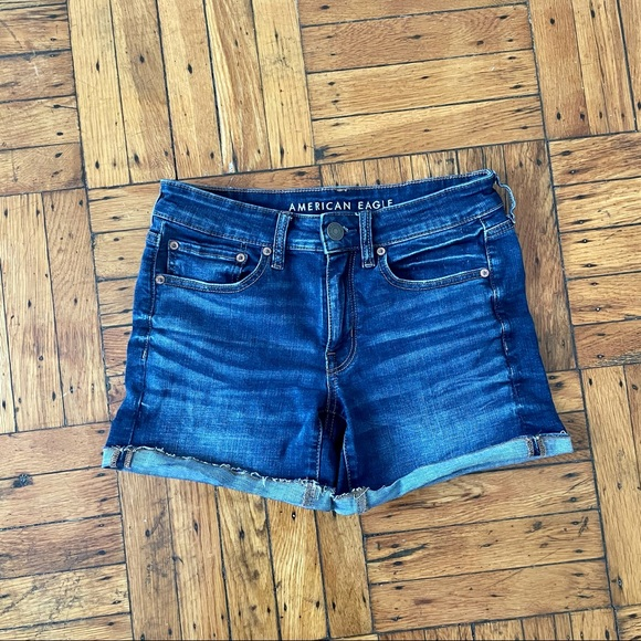 American Eagle Denim Midi Shorts